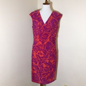 💞 Lauren Ralph Lauren Dress 14 Purple Orange